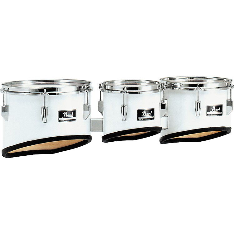 Pearl Competitor Marching Tom Set #33 Pure White 8,10,12 set