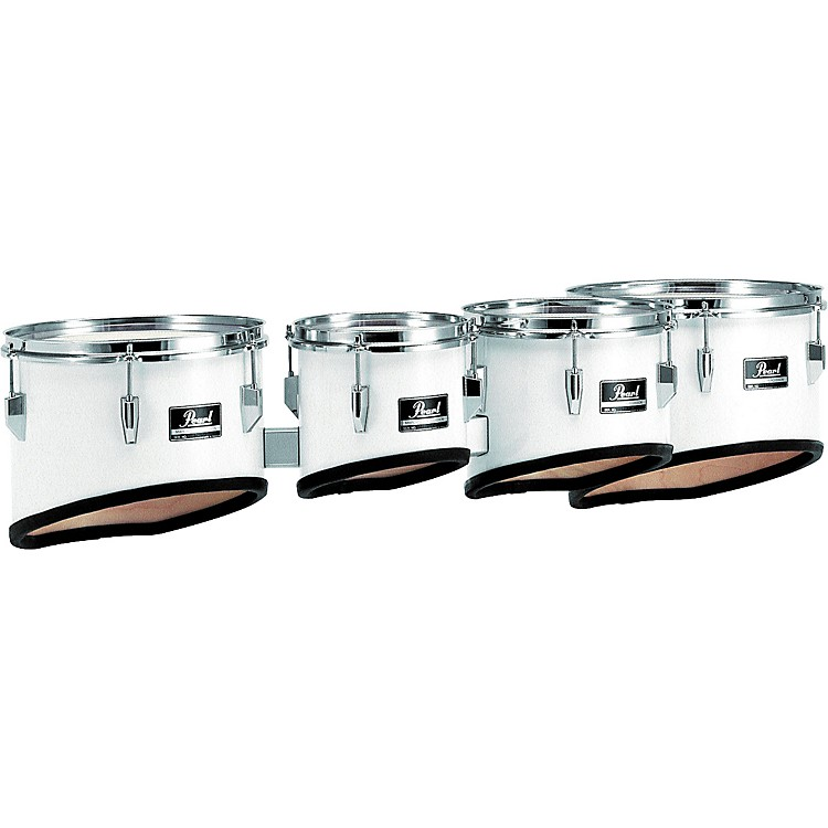 Pearl Competitor Marching Tom Set Pure White (#33) 8,10,12,13 set