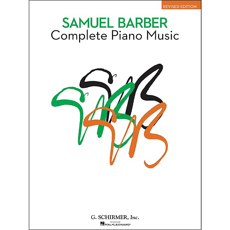 G. Schirmer Complete Piano Music Of Samuel Barber The American Composer Series By Barber