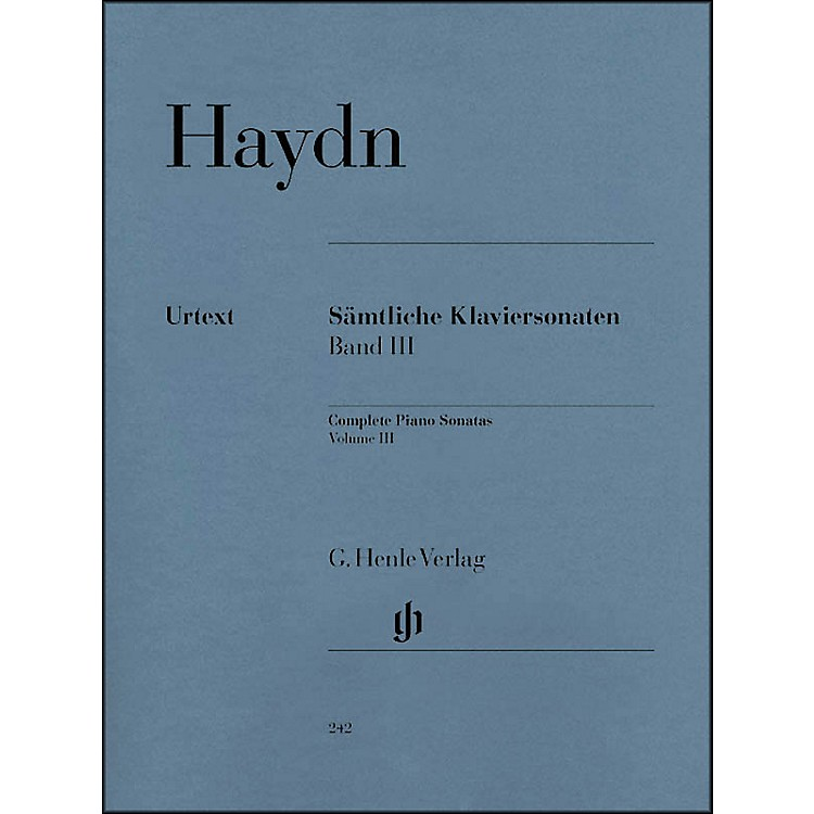 G. Henle VerlagComplete Piano Sonatas - Volume III By Haydn