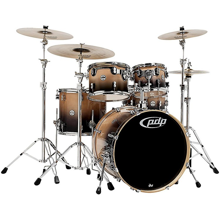 PDP Concept Birch 5-Piece Shell Pack Natural to Charcoal Fade