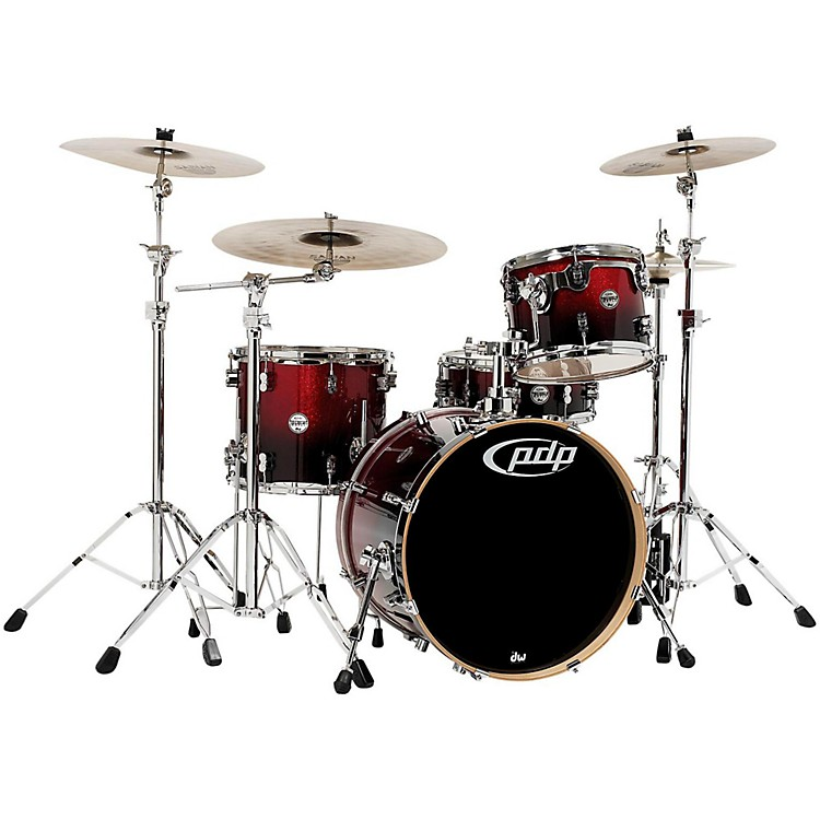 PDP Concept Maple 4-Piece Shell Pack Red To Black Fade