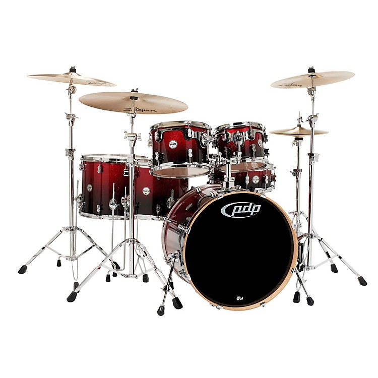 PDPConcept Maple by DW 6-Piece Shell PackRed To Black Fade