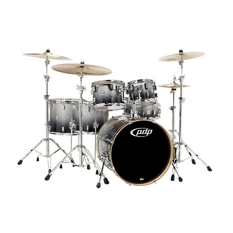 PDPConcept Maple by DW 6-Piece Shell PackSilver to Black Fade