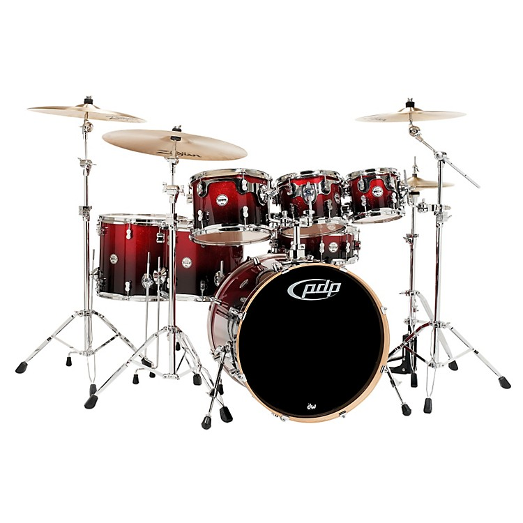PDPConcept Maple by DW 7-Piece Shell PackRed To Black Fade