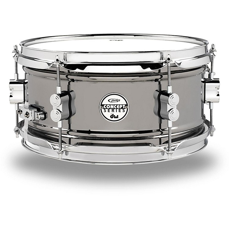 PDP Concept Series Black Nickel Over Steel Snare Drum 12x6 Inch