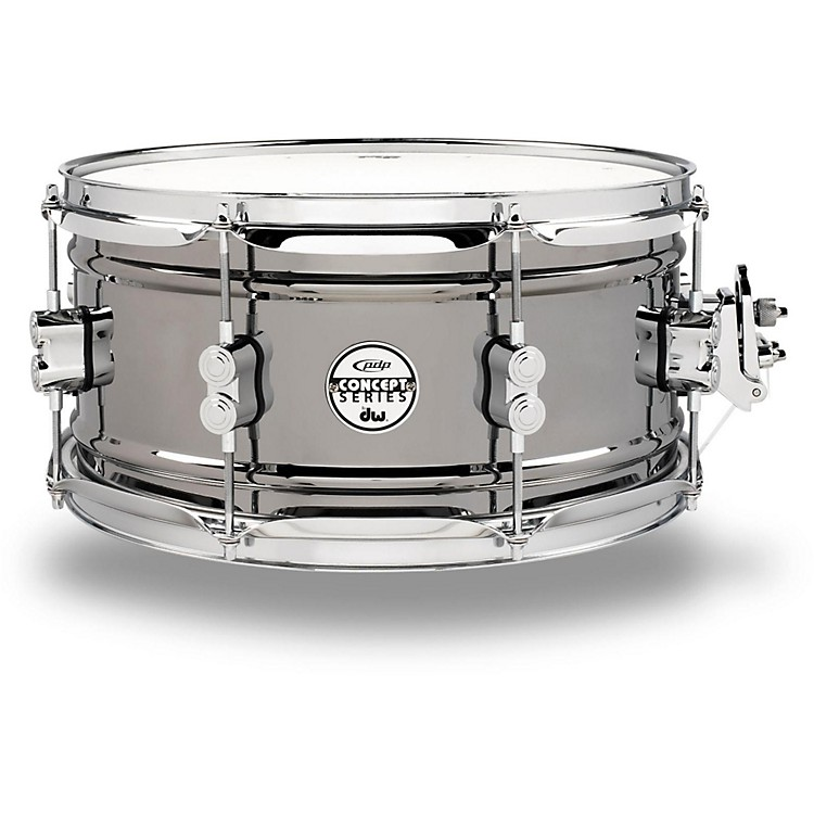 PDP Concept Series Black Nickel Over Steel Snare Drum 13x6.5 Inch