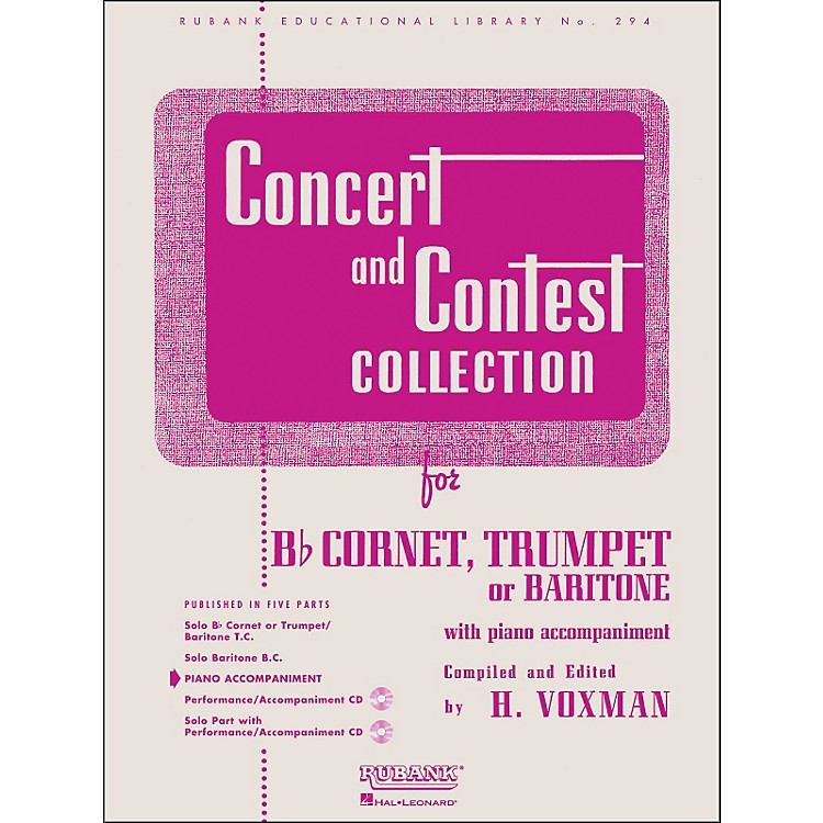Hal LeonardConcert And Contest Collection - B Flat Cornet Trumpet Or Solo Baritone with Piano Accompaniment