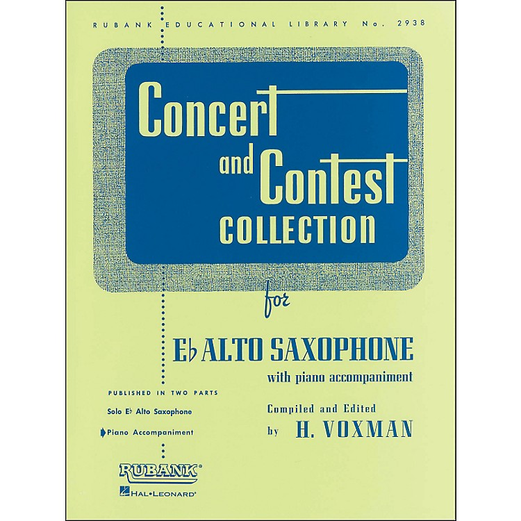 Hal Leonard Concert And Contest Collection E Flat Alto Saxophone Piano Accompaniment