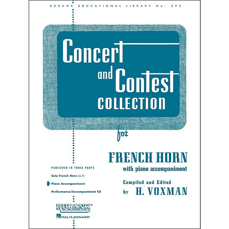 Hal LeonardConcert And Contest Collection for French Horn In F Piano Accompaniment Only