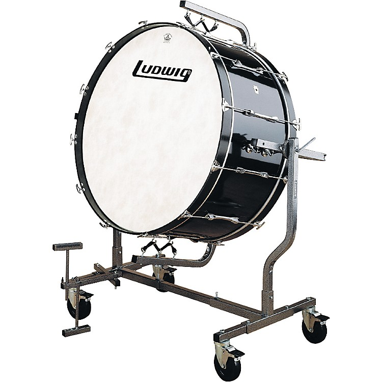 Ludwig Concert Bass Drum Mounted for LE788 Stand 16 x 36 Black Cortex