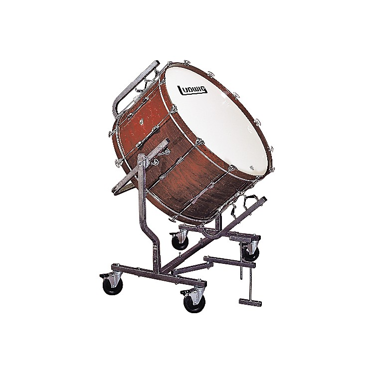 LudwigConcert Bass Drum w/ LE788 StandMahogany Stain16x32