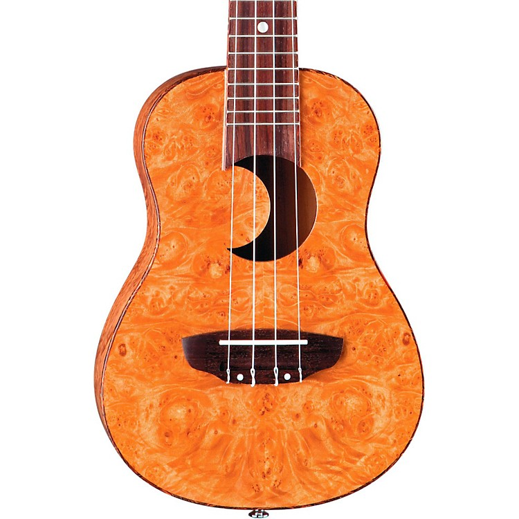 Luna Guitars Concert Exotic Ukulele Maple Burl