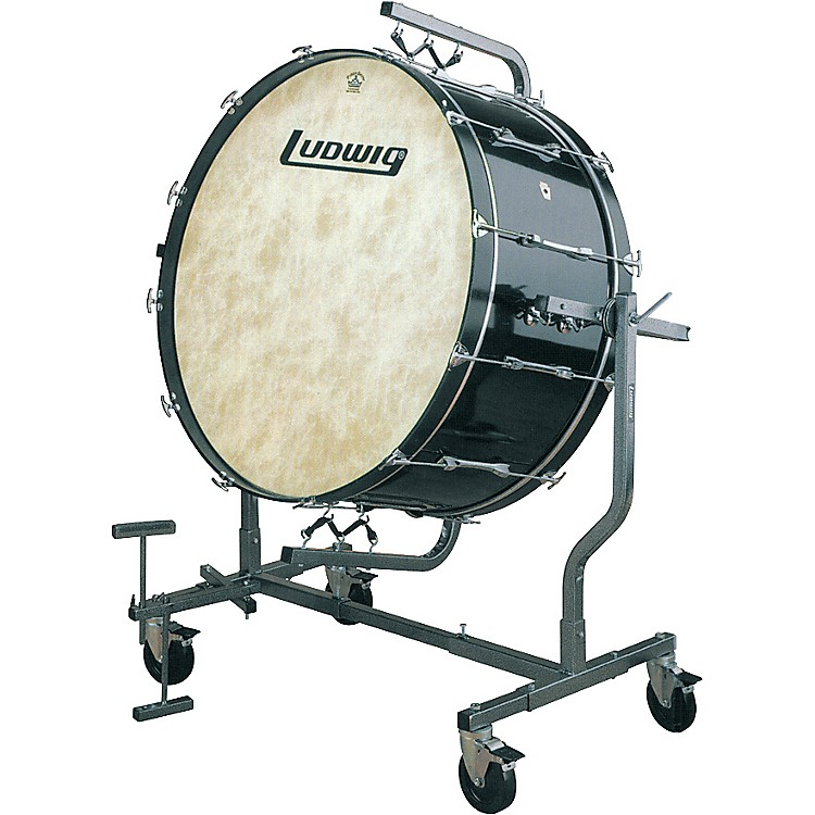 Ludwig Concert Mounted Bass Drum for LE788 stand 40 x 18 in. Black Cortex