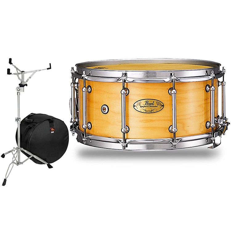 PearlConcert Series Snare Drum with Stand and Free Bag14 x 6.5 in.Natural