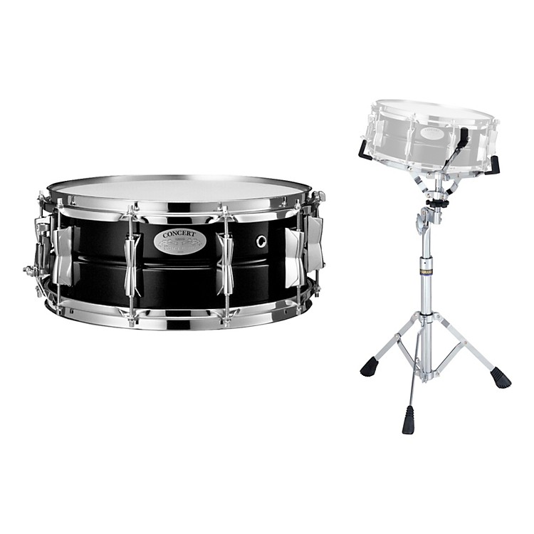 YamahaConcert Series Steel Snare Drum with Stand, 14 x 5.5