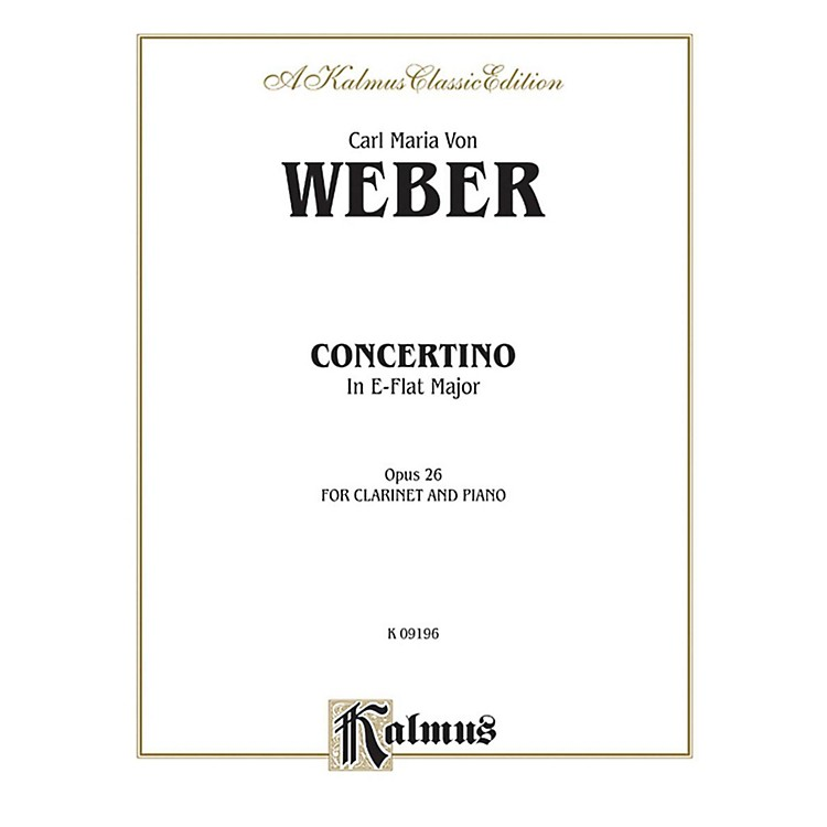 AlfredConcertino for Clarinet in A-Flat Major Op. 26 for Clarinet By Carl Maria von Weber Book