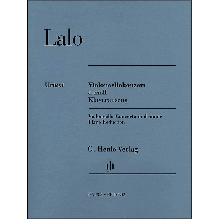 G. Henle Verlag Concerto D Minor for Violoncello And Orchestra Piano Reduction By Lalo / Jost