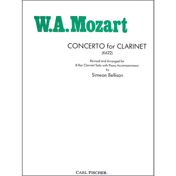 Carl Fischer Concerto For Clarinet (K622)