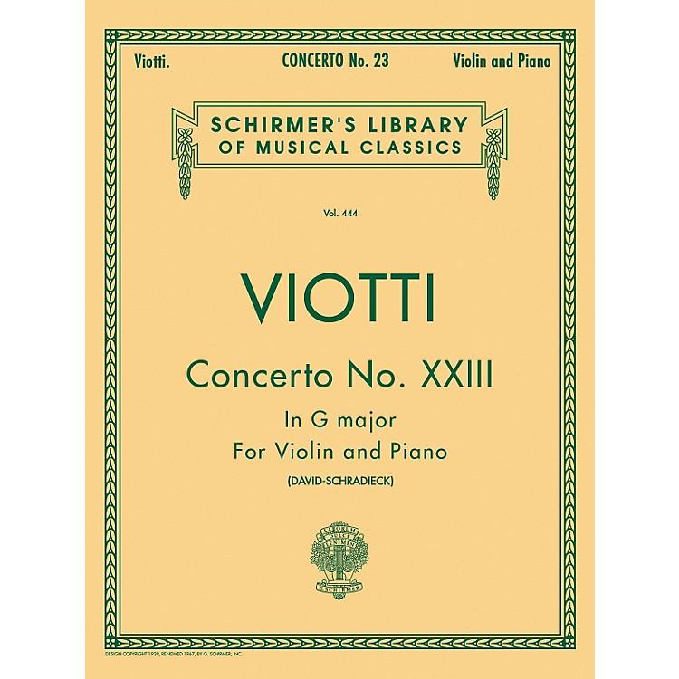G. SchirmerConcerto No 23 G Major Violin Piano By Viotti
