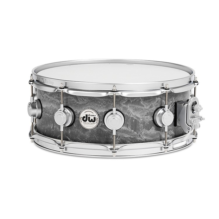 DW Concrete Snare Drum 14x5.5 Inch Satin Chrome Hardware