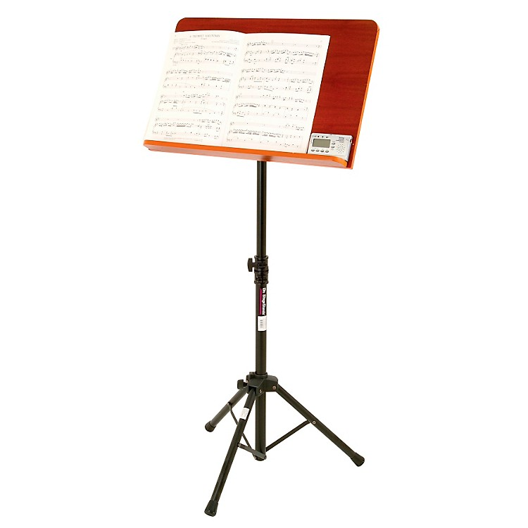 On-Stage StandsConductor Stand with Wide Wooden Bookplate