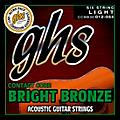 GHS Contact Core Bright Bronze Medium Acoustic Guitar Strings (12-54)