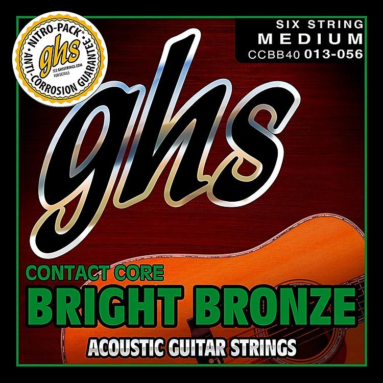 GHSContact Core Bright Bronze Medium Acoustic Guitar Strings (13-56)
