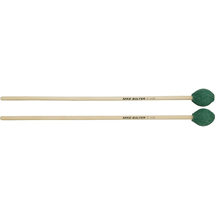 Mike Balter Contemporary Series Birch Marimba Mallets Green Yarn Medium Hard