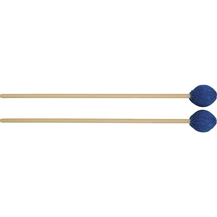 Mike Balter Contemporary Series Black Birch Marimba Mallets Rattan Blue Yarn Medium Soft