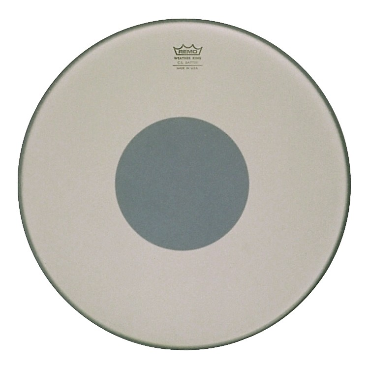 Remo Controlled Sound Smooth White with Black Dot Bass Drum 22 in.