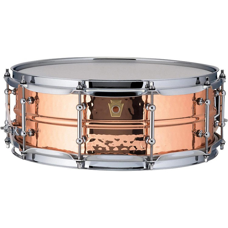 LudwigCopper Phonic Hammered Snare Drum14 x 5 in.Copper Finish with Tube Lugs