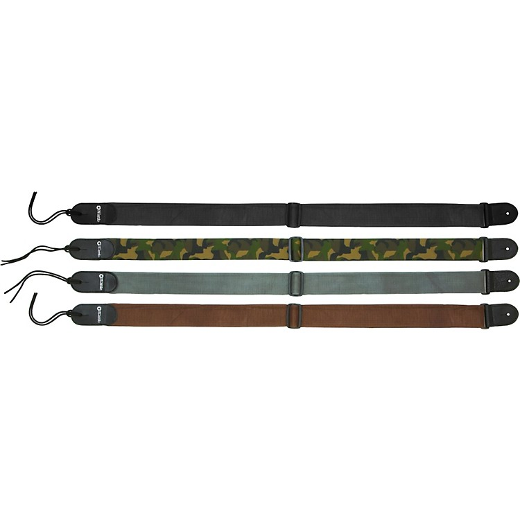 DiMarzio Cordura Guitar Strap with Leather Ends Camouflage