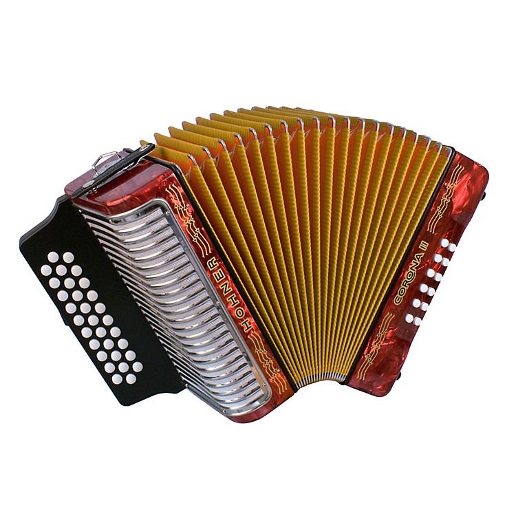 Hohner Corona II 3500 EAD Accordion Pearl Red