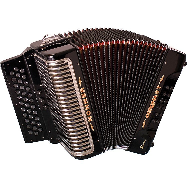 Hohner Corona II T Xtreme FBbEb Accordion Black