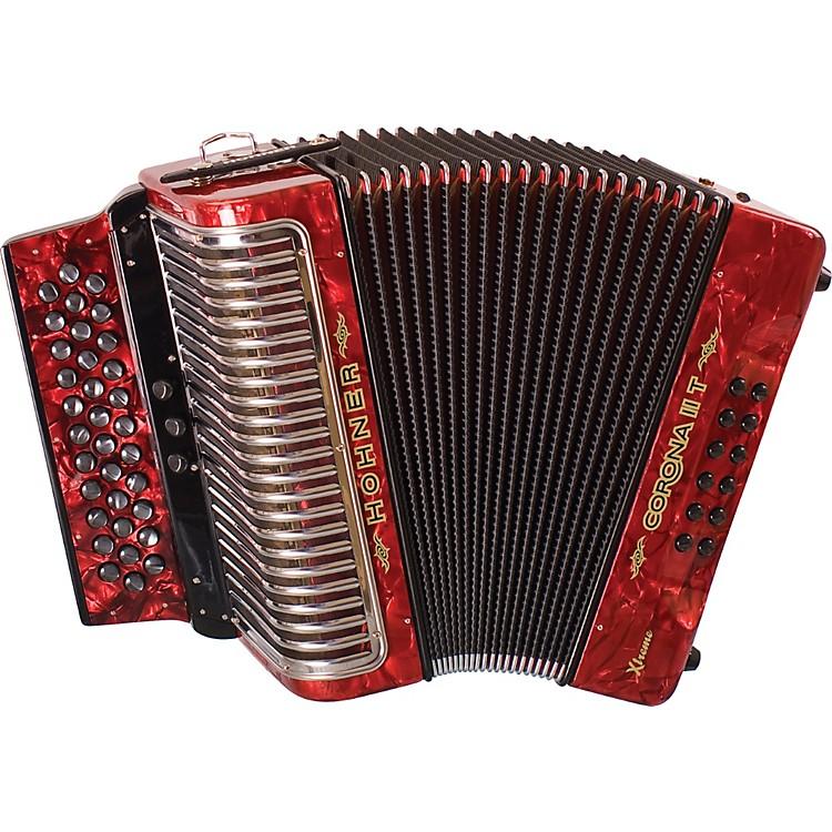 HohnerCorona II T Xtreme FBbEb AccordionPearl Red