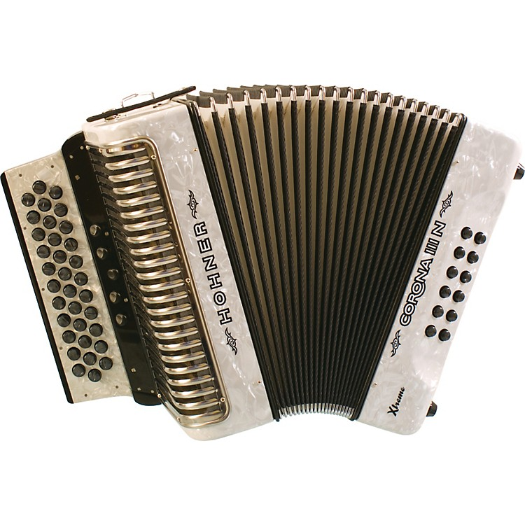 Hohner Corona IIIN Xtreme EAD Accordion Pearl White