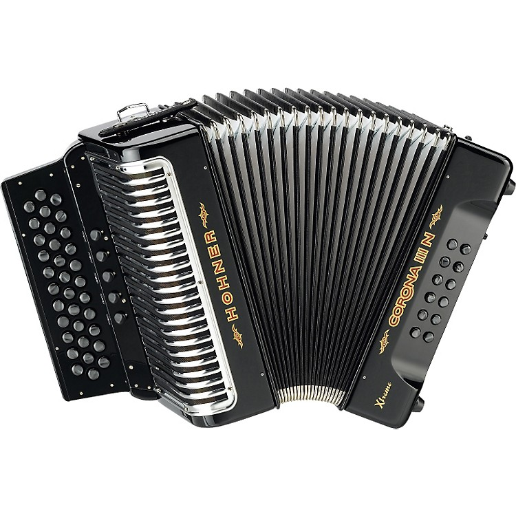 Hohner Corona IIIN Xtreme GCF Accordion Black