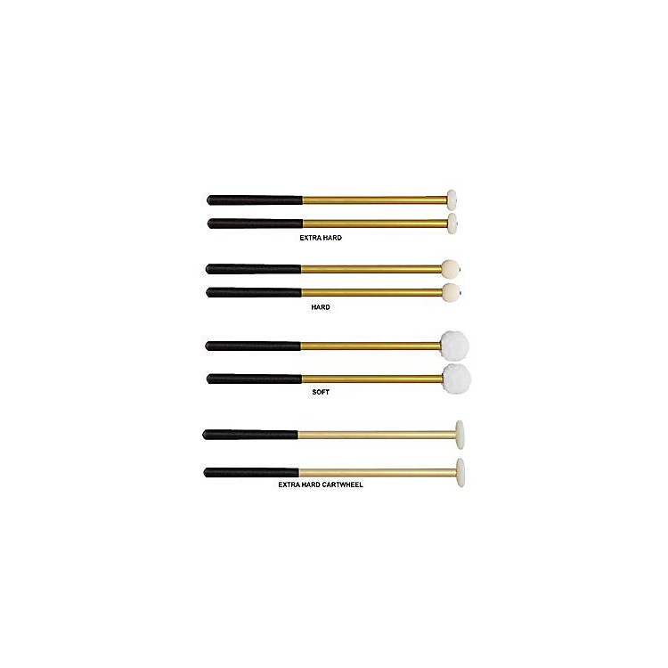 Vic Firth Corpsmaster Multi-Tenor Mallets Aluminum Shaft  Extra Hard-Cartwheel