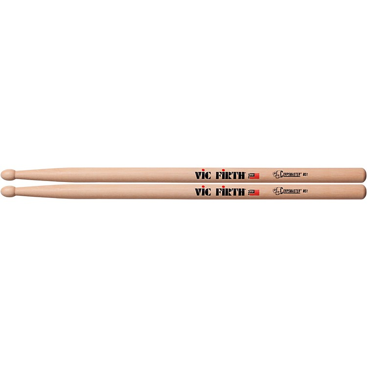 Vic Firth Corpsmaster Snare Sticks Wood 16.5 in.