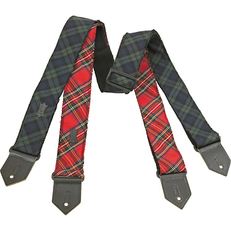 Levy's Cotton Plaid Guitar Strap Green