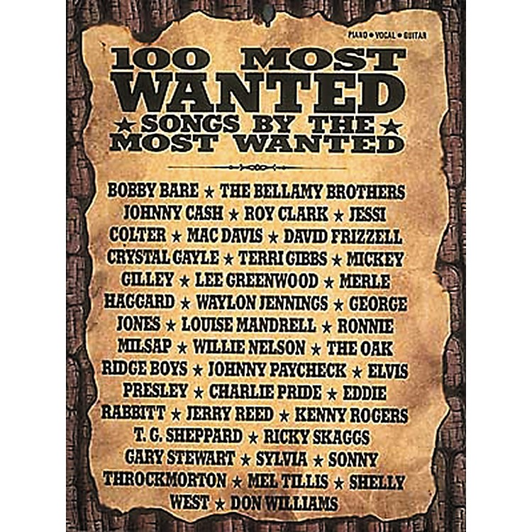 Hal LeonardCountry - 100 Most Wanted Piano, Vocal, Guitar Songbook