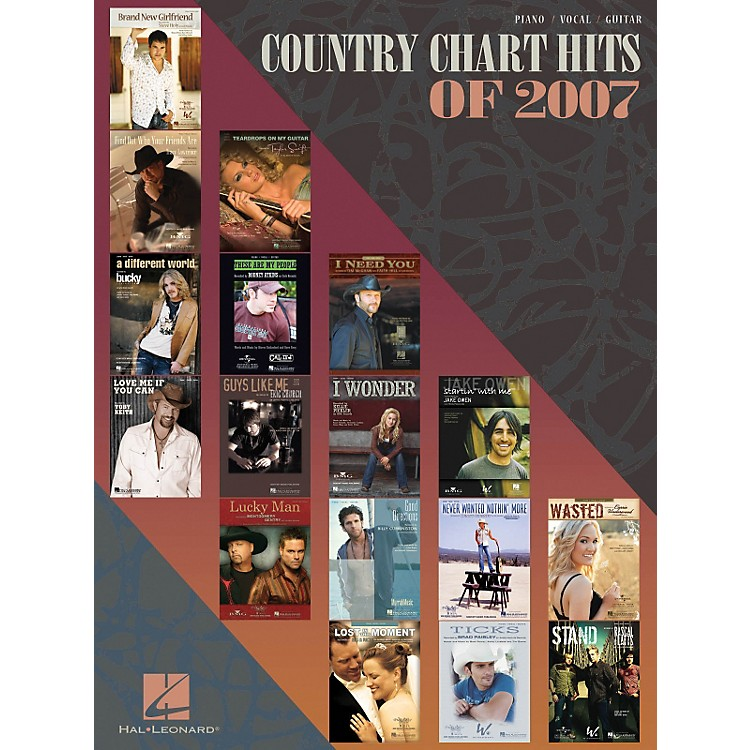 Hal LeonardCountry Chart Hits of 2007 Piano, Vocal, & Guitar Songbook