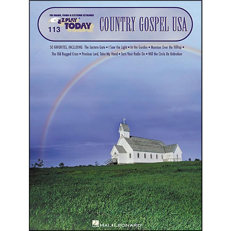 Hal LeonardCountry Gospel USA E-Z Play 113
