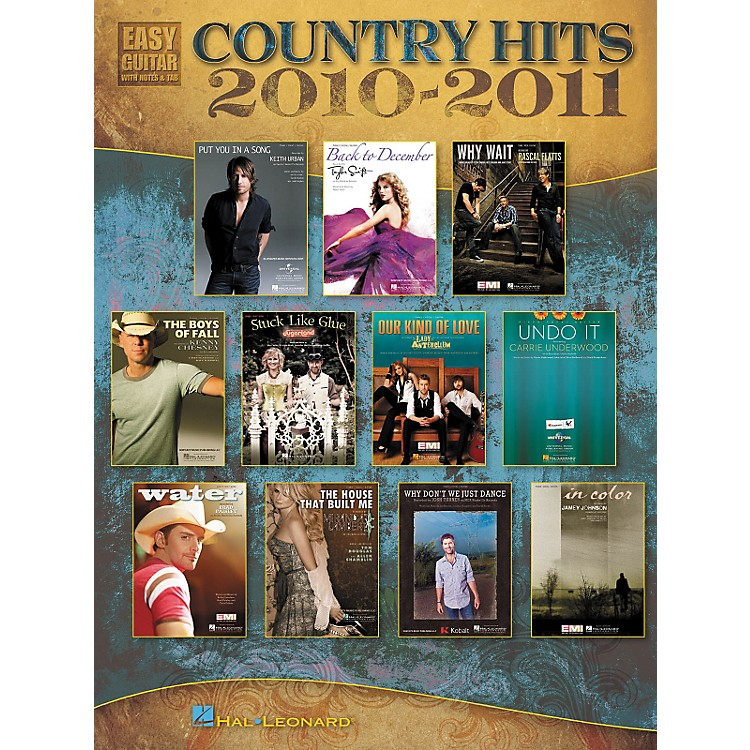 Hal LeonardCountry Hits Of 2010-2011 - Easy Guitar With Tab