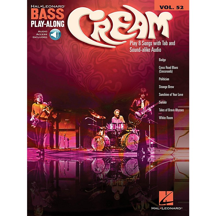 Hal Leonard Cream - Bass Play-Along Volume 52 (Book/Audio Online)