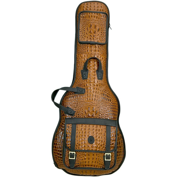 Levy's 'Crocodile' Leather Electric Guitar Gig Bag Tan