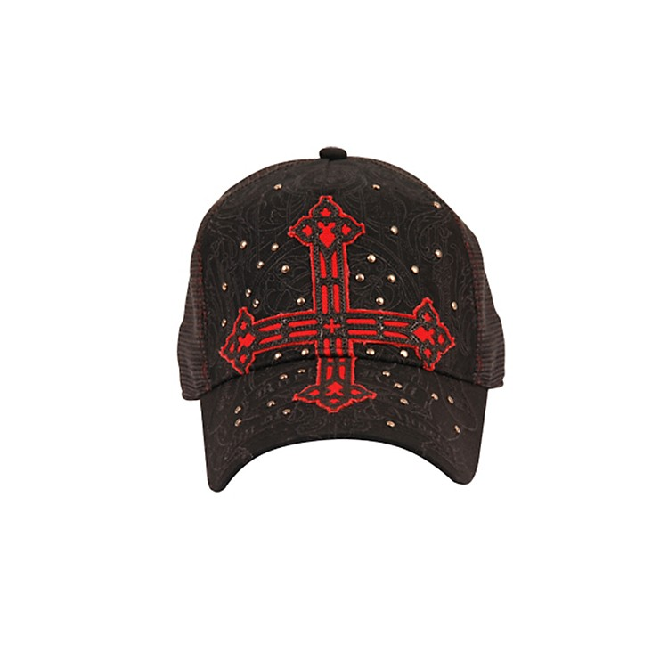 Fender Cross Applique Trucker Hat Black