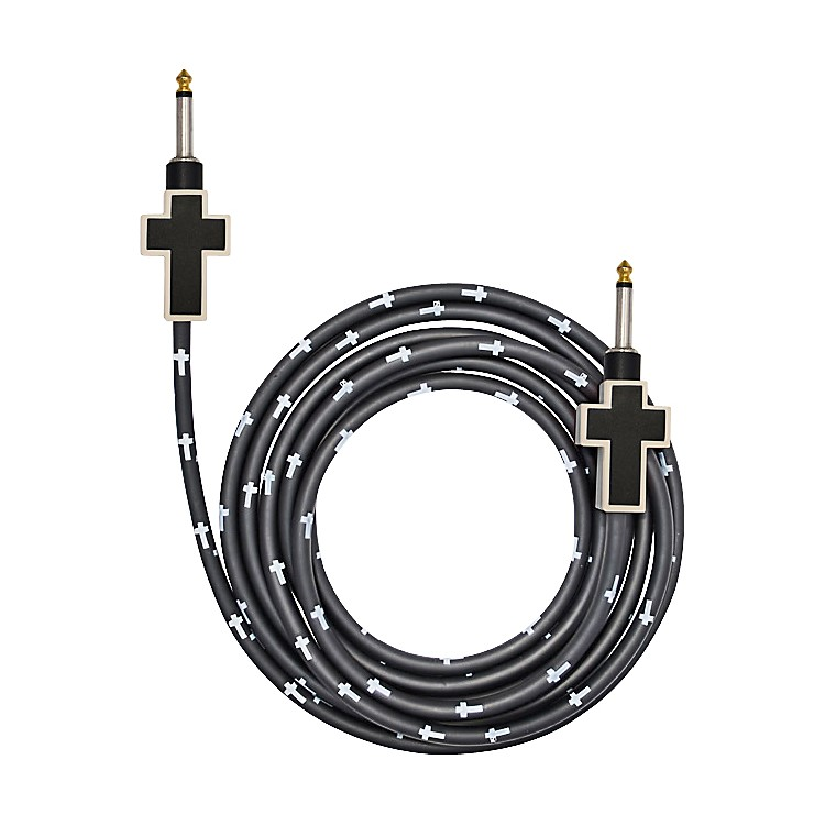 Bullet Cable Cross Instrument Cable White/Black 12 Feet