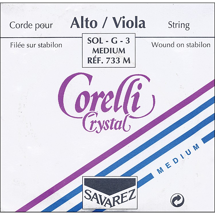 Corelli Crystal Viola Strings G Medium 15+ in.